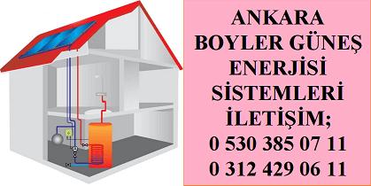 Ankara Boyler Güneş Enerjisi Boyleri Sistemi