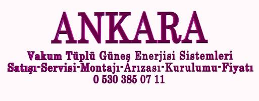 Ankara Vakumlu Tüplü Güneş Enerjisi Fiyatları